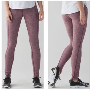 Lululemon Turn Around Tight Heathered Bordeaux 4
